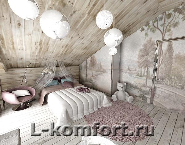 Кухня гостиная в деревянном доме 800x600